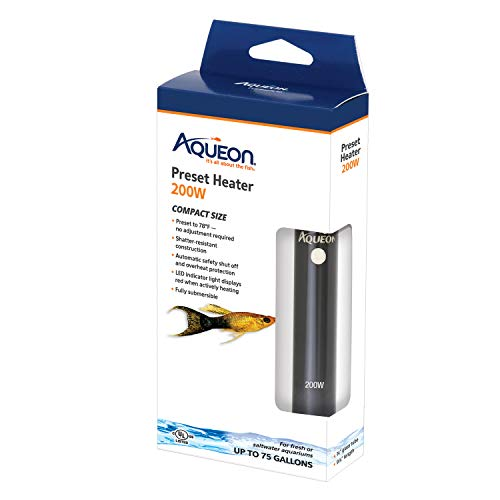 Aqueon 100106254 Preset Heater,Black, 200W