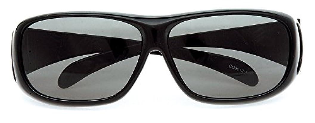 発音夜間債務コールマン サングラス メガネの上から偏光サングラス オーバーグラス CO3012-1