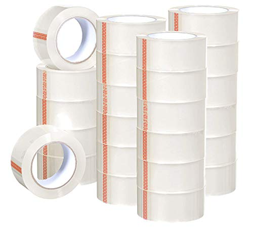 Heavy Duty Clear Packing Tape 2.8 mil, 1.88 x 195 Feet (65 Yards)- Big 36 Rolls of Moving/Shipping/Storage Tape Suitable to Refill Dispenser Gun, Durable and Easy to Use
