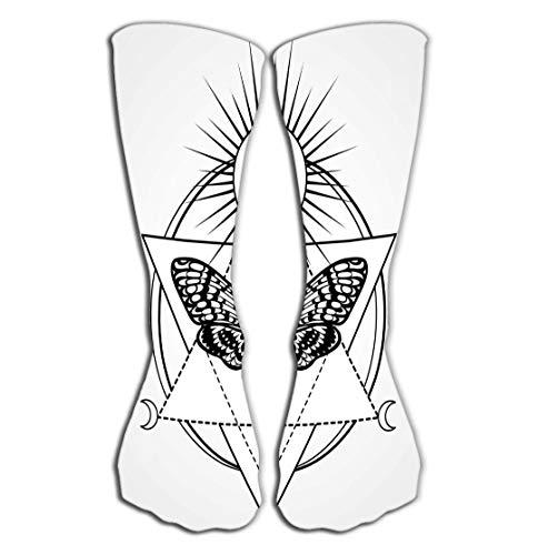 Xunulyn Hohe Socken High Socks Novelty Compression Long Socks 19.7