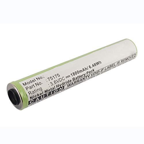 subtel® Qualitäts Akku kompatibel mit Streamlight Stinger / 76909/76606 / 76500/75301 / 75175   Peli M9, 1800mAh Ersatzakku Batterie