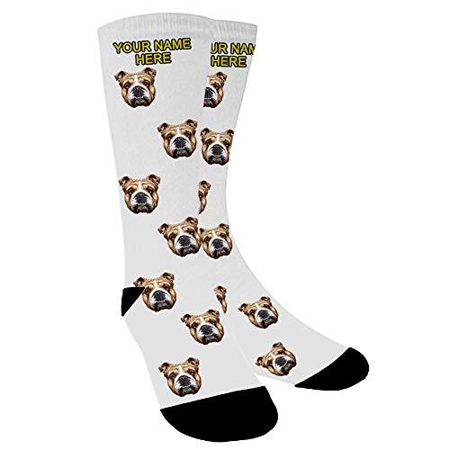 Aolun Chaussette Personnalisé Photo,Chaussette Personnalisable,Mettez le chien, le chat et les autres animaux de compagnie dans une chaussette