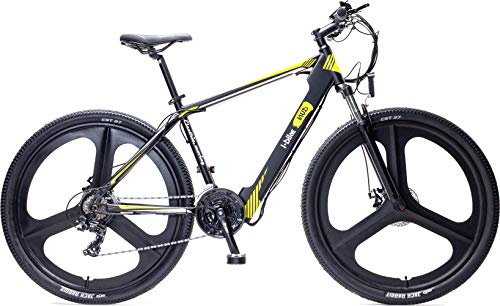 I-Bike, Mountain Mud Unisex adulto, Nero Bianco Giallo,...