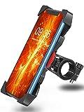 Bovon Soporte Movil Bicicleta, Anti Vibración Soporte Movil Bici Montaña con 360° Rotación para Moto Bici, Universal Manillar Compatible con iPhone 11 Pro Max/11 Pro/11/X/8, Samsung y 3.5'-6.5' Móvil