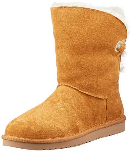 Koolaburra by UGG Women's Remley Short Classic Boot, Chestnut, 43 EU