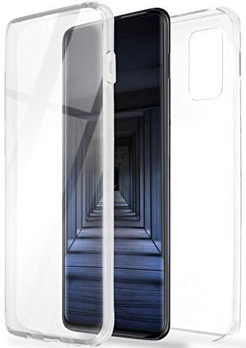 ONEFLOW Touch Case für Samsung Galaxy A51 - Hülle beidseitig aus Silikon, vorne und hinten transparent, Handyhülle mit Displayschutz - Durchsichtig