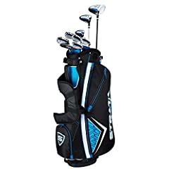 The Strata 12 piece set is designed for maximum performance right out of the box; The set includes: Driver, 3 Wood, 5 Hybrid, 6 9 Iron, PW, Putter, Stand Bag and 2 Head covers Woods: Lightweight 460cc forged driver that has a large sweet spot, a tita...