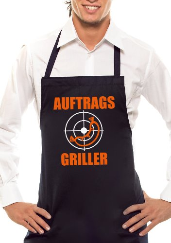 Tablier de barbecue bicolore Auftrags-Griller - Noir et orange/blanc