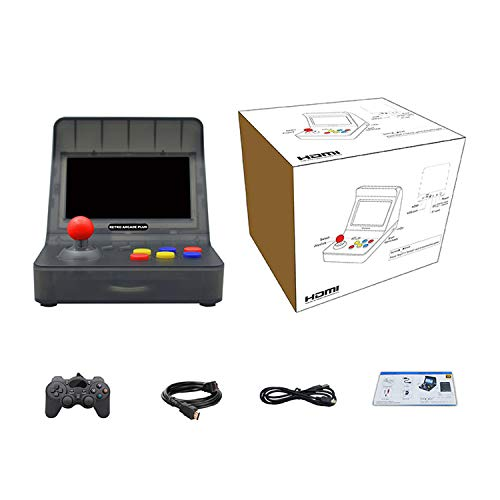HAIHUANG Retro Arcade Machine,Retro Game Console Built in 3000 Classic Games Supports 32G TF Card , Portable Game Console 4.3 inch Full View Screen Gift for Kids and Friends