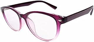 JCERKI Purple Lightweight Frame Bi-focals Lens Reading Glasses 2.50 Men Women Fashion Light Bi-focals Lens Readers Spectacles