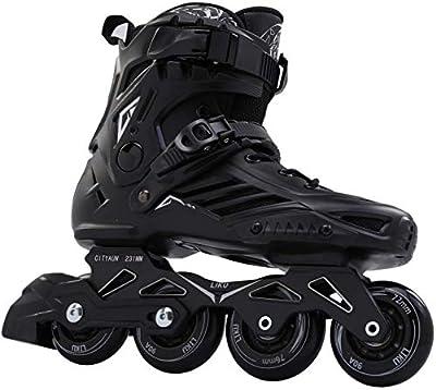 LIKU Black Professional Inline Skates Unisex