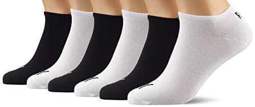 Puma Chaussettes de course à pied pour homme – Gris/Noir/Blanc, Taille 35, 3er weiß/3er schwarz, 39-42