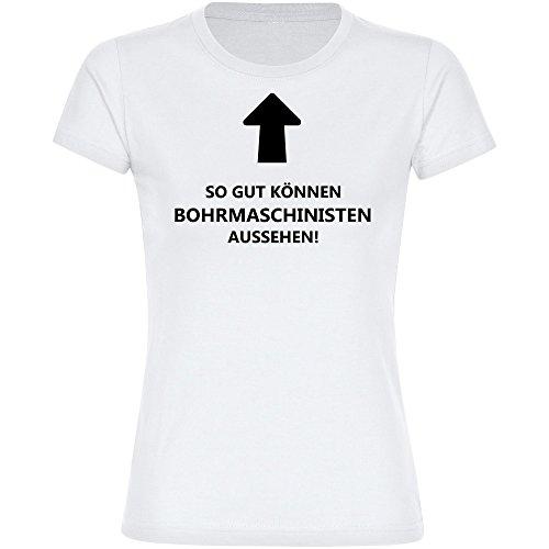 T-shirt Zo goed kunnen boormachines er uitzien! wit dames maat S tot 2XL
