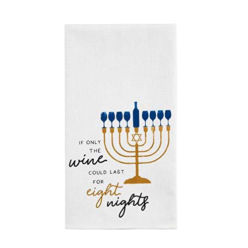 Mud Pie Eight Night Hanukkah Towel, 26' x 16.5'