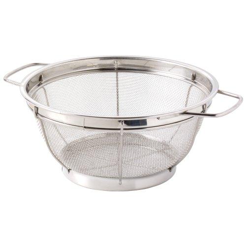 ProCook Edelstahl Küchensieb - 25 cm - großes Küchensieb - Seiher - mit Griffen - Nudelsieb - feinmaschig
