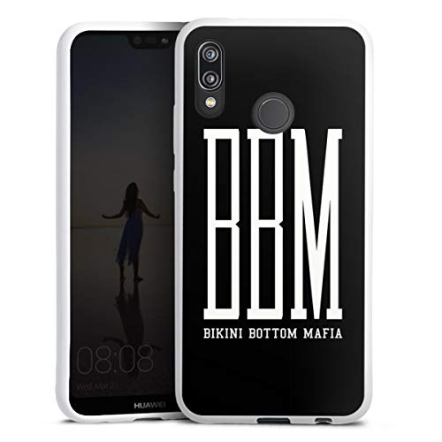 DeinDesign Silikon Hülle kompatibel mit Huawei P20 Lite Case weiß Handyhülle Spongebozz Bikini Bottom Mafia YouTube