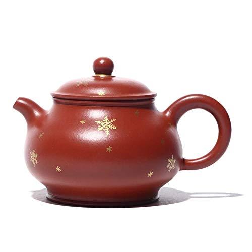 LIMEI-ZEN Teteras Rojo Grande Tetera de Yixing Productos Famosos 24K Mano de lanzar Nieve Pan Tetera de la Caldera de té de la Boca Grande