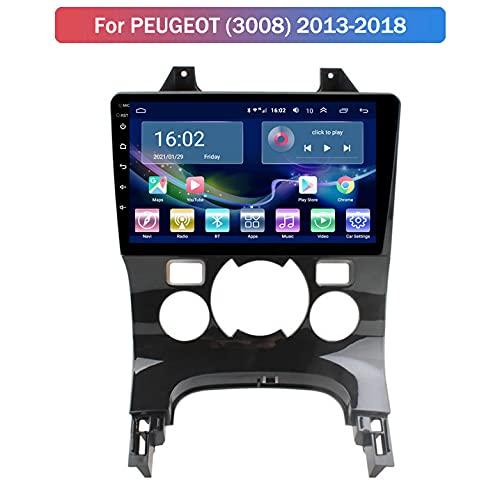 Android 10 Navegación GPS para Peugeot 3008 2013-2018 Reproductor Multimedia para Automóvil con WiFi, Bluetooth, Reproductor Multimedia De Radio para Automóvil,2+32G 4G+WiFi,B:2+32G WiFi+4G
