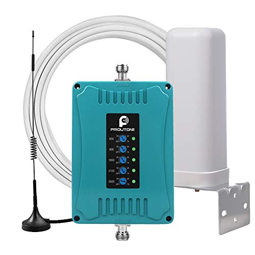 Proutone Amplificador 4G LTE 3G 2G gsm para Todos Los Teléfonos Band 1/3/7/8/20 Amplificador de Cobertura Móvil Vodafone/Orange/Movistar/Yoigo