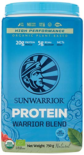 Sunwarrior Organic Plant Based Blend Natural Protein Powder, 750 g