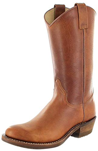 Sendra Boots Herren Cowboy Stiefel 5588 Tang Lederstiefel Braun 46 EU