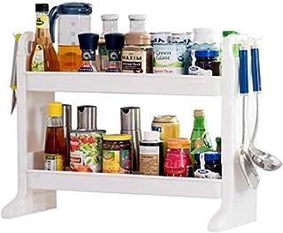 HSWJ Cuisine Rack, Spice Rack, Spice Rack, Article Double-Couche Support de Rangement