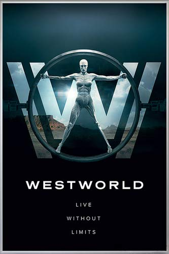Close Up Westworld Poster Live Without Limits (93x62 cm) gerahmt in: Rahmen Silber matt