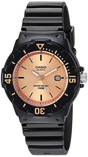 Casio - Reloj de cuarzo clásico de acero inoxidable con correa de resina, color negro, 10,7 (Modelo: LRW-200H-9E2VCF)