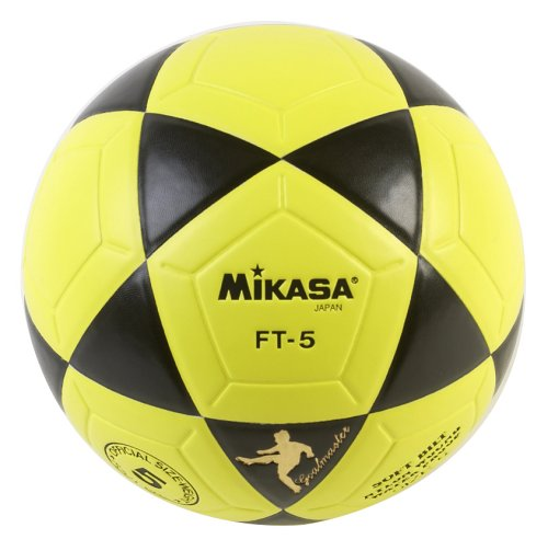 Balón de fútbol Mikasa FT5 Goal Master (Talla 5), Color Amarillo y Blanco, tamaño 5