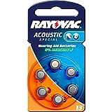 Rayovac Extra Avanzado Pilas de Botón para Aparatos Auditivos Tipo DA13 Paquetes de 6x Pilas Zinc-Aire 1.4V