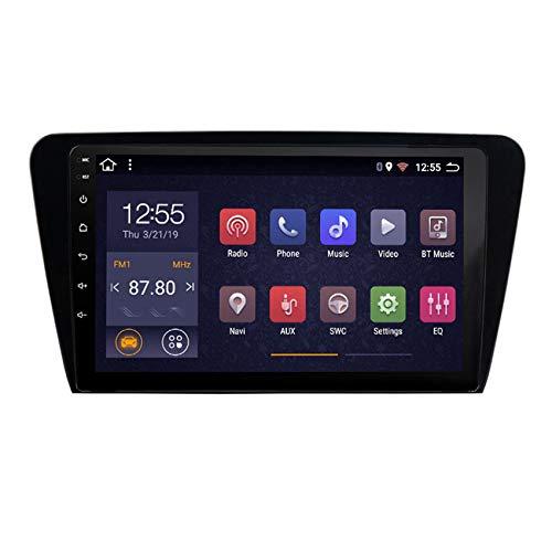 DMMASH Android 8 Car Stereo Navegación GPS Auto Radio para Skoda Octavia 2014-2018 2 DIN Pantalla Táctil de 10 Pulgadas WiFi/BT, Soporte Llamadas Manos Libres,8 Cores,4G +WiFi:4+ 64G