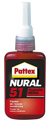 Pattex Nural 51, fijador de roscas méticalicas de fijación media, 50 ml