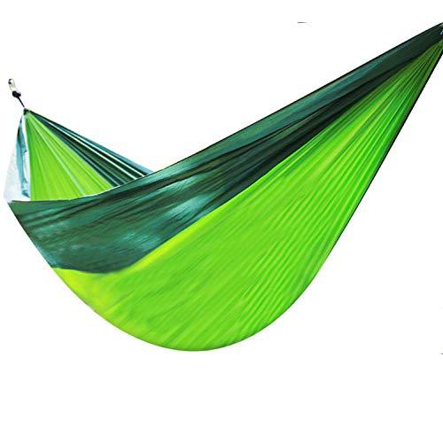 Multifuncional Soltero Hamaca Plegable con Bolsa De Almacenamiento + Correa,300kg de Capacidad de Carga (140x90cm) Verde Tienda Campaña para Un Manejo Suave, En Interiores Y Exteriores