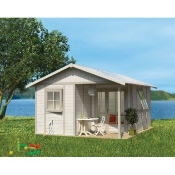 *Grosfillex Gartenhaus Deco 20B Kunststoff grau-grün 493 x 403 cm*