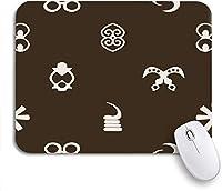 """ゲーミングマウスパッドオリエンタルパターンアジアモンゴル9.5"""" x7.9""""ノートブックりめラバーバッキングコンピューターマウスマットマウスマット"""
