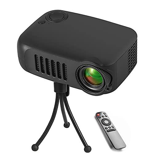 Mini Proiettore,Proiettore Portatile A LED da Casa HD 1080P Mini Proiettore Video Full HD Compatibile con Smartphone Include Staffa,Nero
