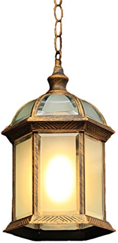 GKJ Lustre imperméable à l'air extérieur, patio extérieur Jardin Céramique à raisins Couloir Chandelier Pavillon Aisle Balcon Lampe Simple tête E27 Métal Variété (Couleur    1)