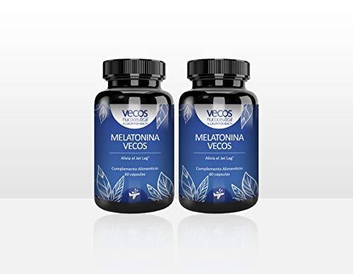 Melatonina pura Vecos 1,9 mg - FABRICADA EN ESPAÑA - Enriquecido con Vitamina C y E para reforzar su acción antioxidante. Ayuda a conciliar el sueño y dormir bien - 100% NATURAL