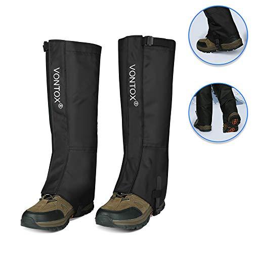 V VONTOX Polainas (M), Polainas Impermeables para Caminatas Oxford para Mujeres y Hombres, Cubre Polainas Transpirables para Nieve para Raquetas de Nieve Senderismo al Aire Libre Caza (Velcro)