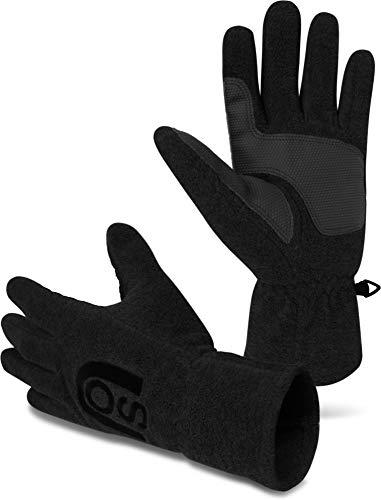 normani Thinsulate Herren Fleece Handschuhe mit Fleecefütterung - schön warm für kalte Tage Farbe Nuuk Schwarz Größe M