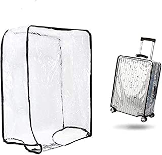 "1PCS Luggage Cover Suitcase Cover Transparent Protectors Case for 20""24""28""30"" (XX-Large, Transparent)"