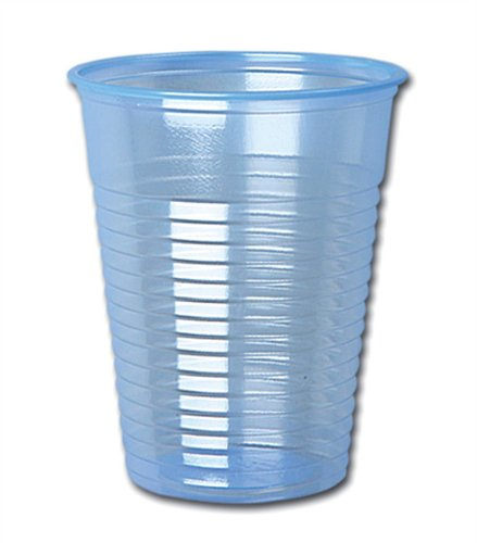 Plastic beker voor koude dranken, 198,4 g en 200 ml, blauw [1000]