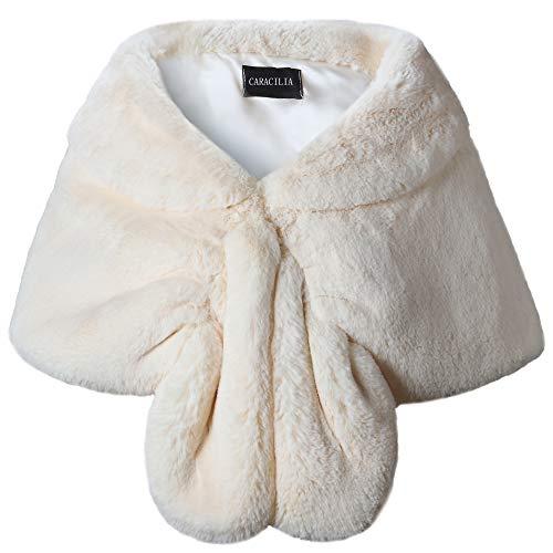 Caracilia De lujo piel imitación abrigo mantón estola