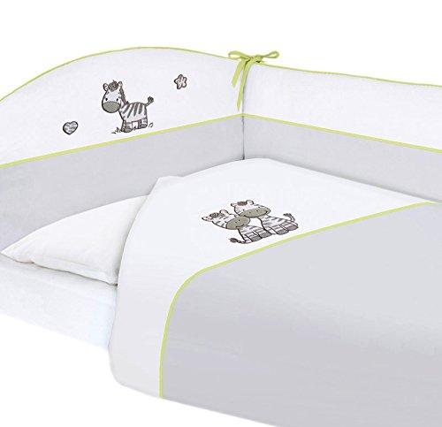 ceba Baby – Nid bettumrandung avec linge de lit pour berceau Zebra 3 PC