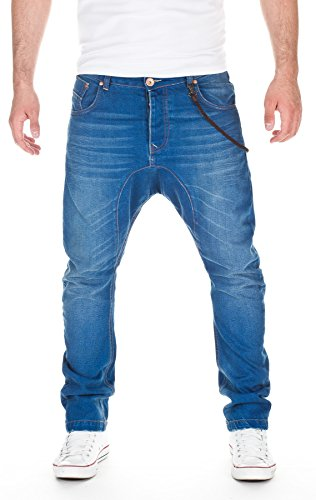 VSCT Herren Jeans Spencer Lowcrotch Oldschool Straight Leg Jeans, Blue, W30/L34