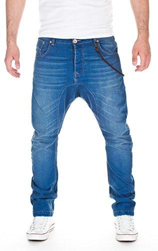 VSCT Herren Jeans Spencer Lowcrotch Oldschool Straight Leg Jeans, Blue, W32/L32
