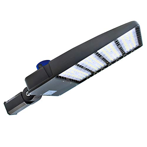 LED Parking Lot Lighting,with Dusk-to-Dawn Photocell Sensor,300W Waterproof LED Street Light,36000 Lumens,100-277V LED Shoebox Area Light,1000W HPS Equivalent (Slip Fit 300W)