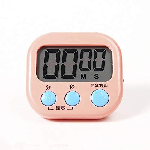 Absir Baking Timer Kitchen Alarm Clock Countdown Stopwatch Student Timer Chronograph Electronic Reminder Pink
