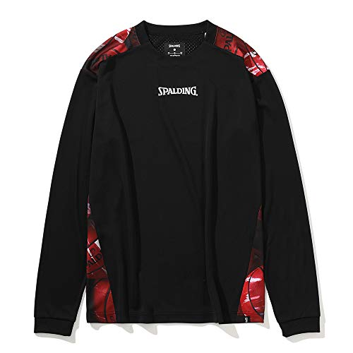 SPALDING(スポルディング) バスケットボール ロングスリーブTシャツ マーブルボールバックプリント SMT201130 ブラック Mサイズ バスケ バスケット