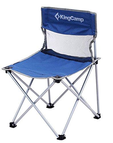 KingCamp – Chaise de Camping&Trekking Pliable – 78 * 50 * 50cm - Structure en Acier et Textile Impermeable - Charge Jusqu'à 100 Kg – Sac de Transport Fourni – Coloris Bleu